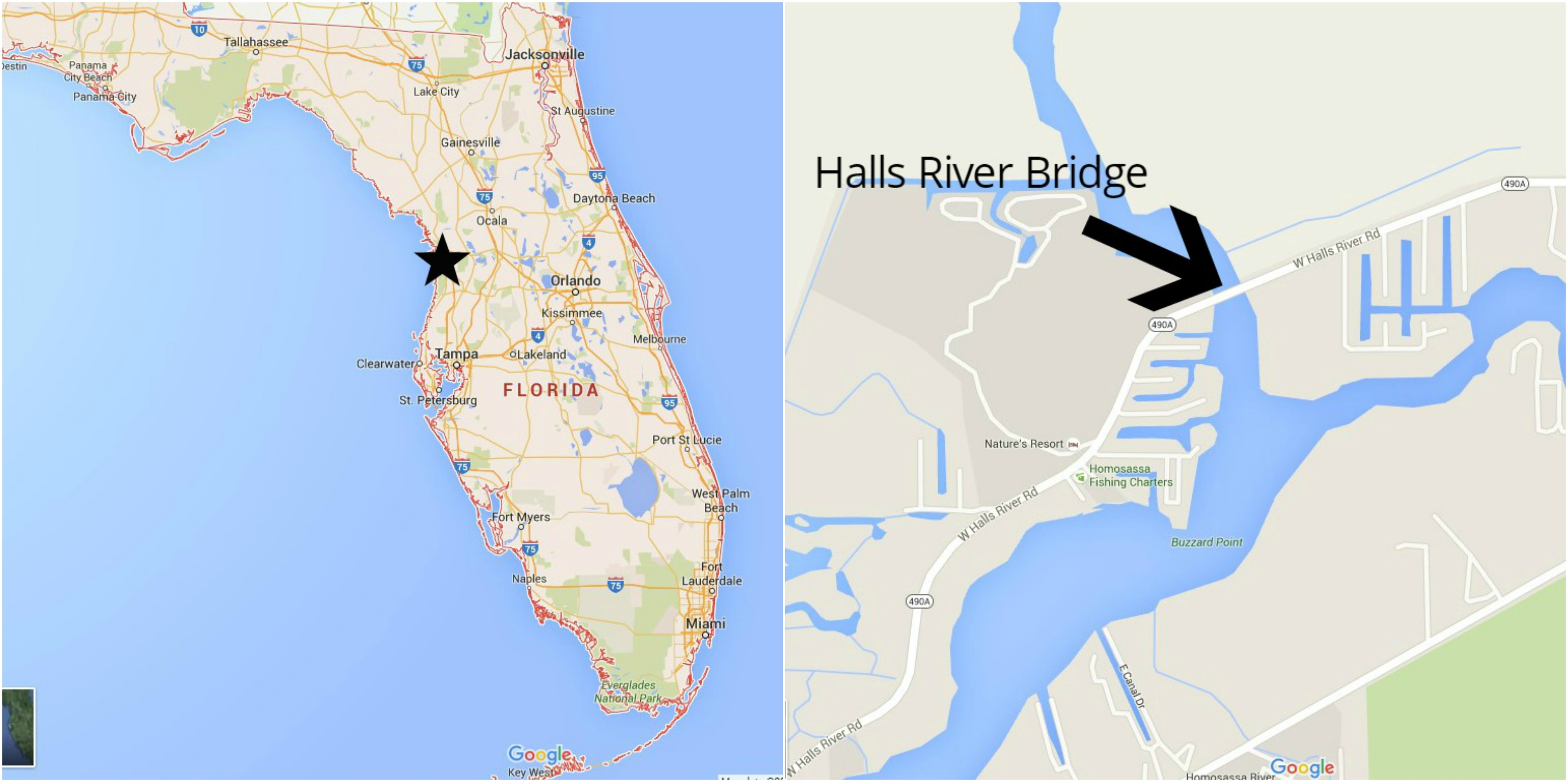 Location of Halls River Project.
