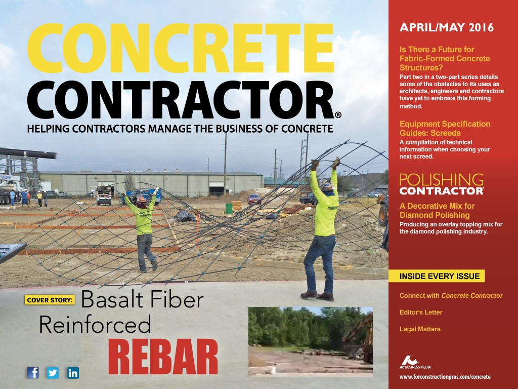 GatorBar on cover of Concrete Contractor.